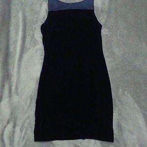 Nicole Miller Dresses & Skirts - Velvet Dress dark blue