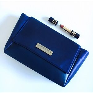 J. Mendel Handbags - J. Mendel Paris Navy Blue Satin Clutch