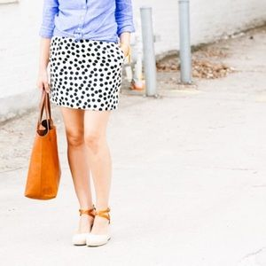 J.Crew Scatter-Dot A-Line Skirt