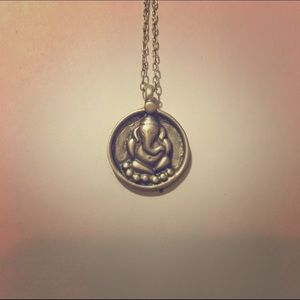 Satya Jewelry Jewelry - Sterling silver Ganesha pendant necklace