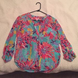 Silk Lilly Pulitzer blouse