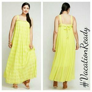 Lane Bryant Dresses & Skirts - Lane bryant pleated front maxi dress 18 20