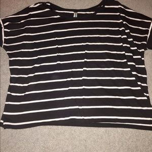 Xhilaration Tops - Black and white striped short sleeve tshirt