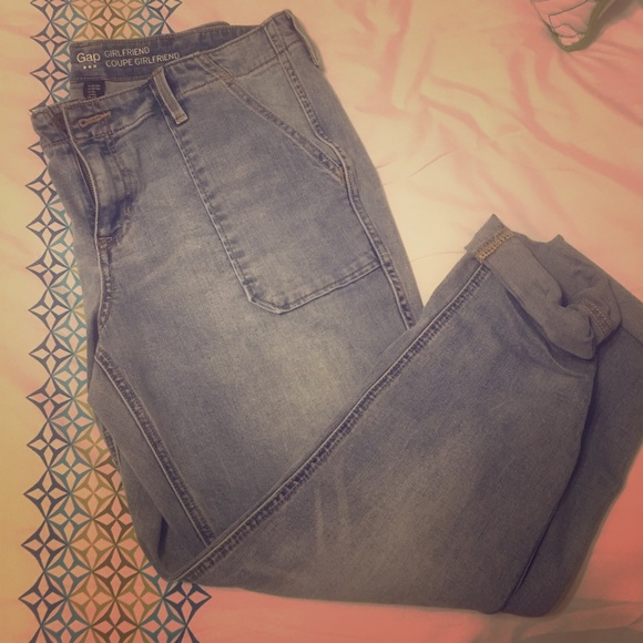 84% off GAP Denim - Gap girlfriend Coupe jeans/Capri size 10 from ...