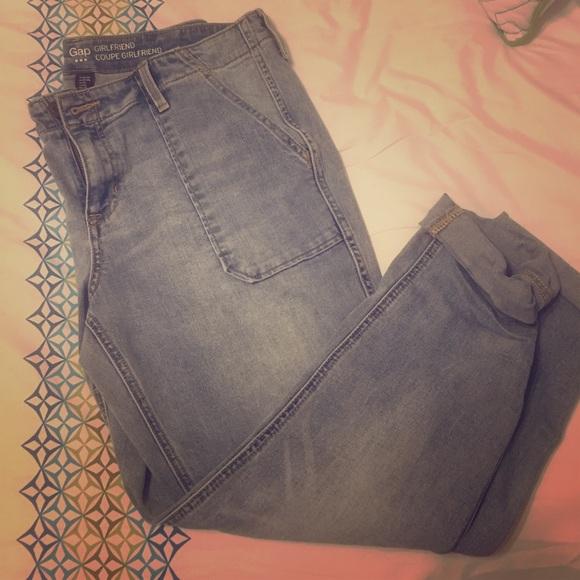 84% off GAP Denim - Gap girlfriend Coupe jeans/Capri size 10 from ...
