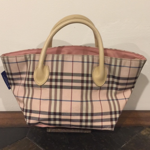 71c97c934cb3 Burberry Handbags - Authentic Burberry Blue Label Pink Check Handbag