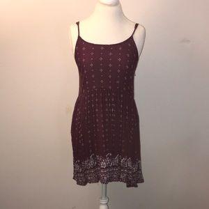 Burgundy Forever 21 Dress
