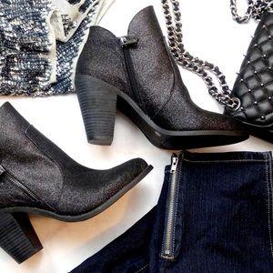 Jessica Simpson Shoes - Black Glittery Ankle Boots