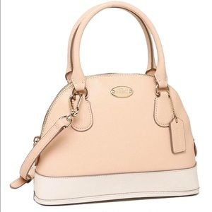 NWT Coach Mini Cora Dome Satchel in Apricot!