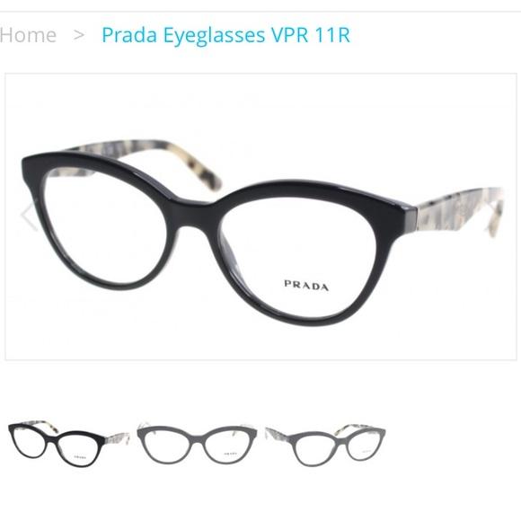 0125cd698e Prada PR 11RV - Triangle opal - grey Eyeglasses. M 57f47d84d14d7b39b900ad43