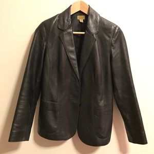 Caslon Jackets & Blazers - Caslon leather jacket/blazer