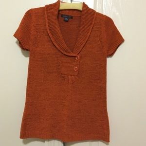 Orange August Silk cable knit sweater