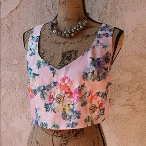 Luca Couture Floral Crop Top