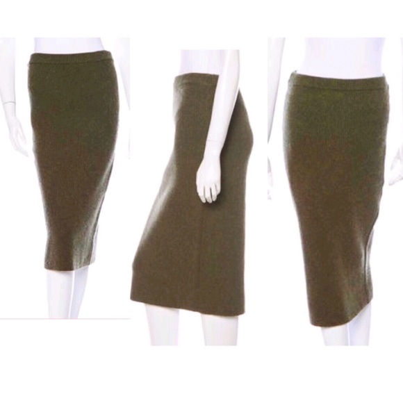 2646d4a965 MIchael Kors Cashmere Olive Knit Pencil Skirt. M_57f489e07f0a05143b001519