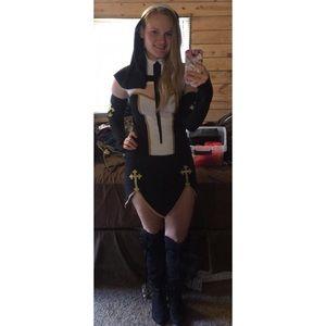 Halloween Other - Bad Habit Nun Costume by Music Legs  sc 1 st  Poshmark & Halloween Other   Bad Habit Nun Costume By Music Legs   Poshmark