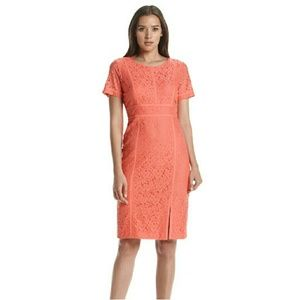 Calvin Klein Dresses & Skirts - CALVIN KLEIN Floral Lace Short Sleeve Sheath Dress