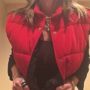 Tecnica Jackets & Blazers - Red velvet puffer vest