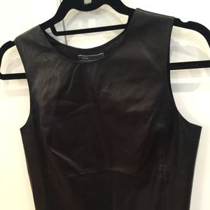 Vince Tops - FLASH SALE Vince Leather Shell Cami