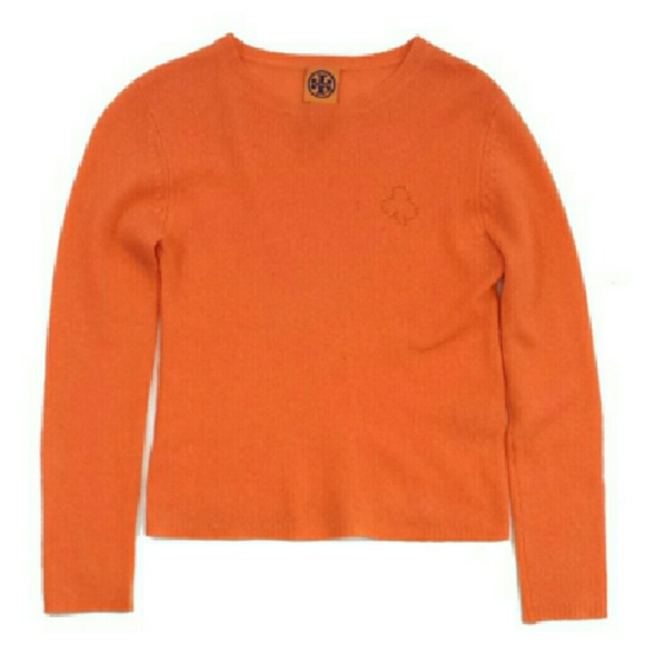 60% off Tory Burch Sweaters - Tory Burch- Orange Cashmere Sweater ...