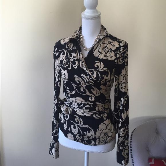 7d6692bf77824 Ann Taylor Tops - Ann Taylor silk wrap blouse