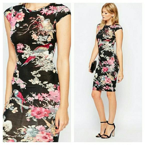 Asian print dresses pic