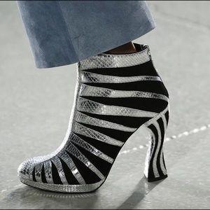 Rodarte Shoes - RODARTE SS16 metallic high-heel boots