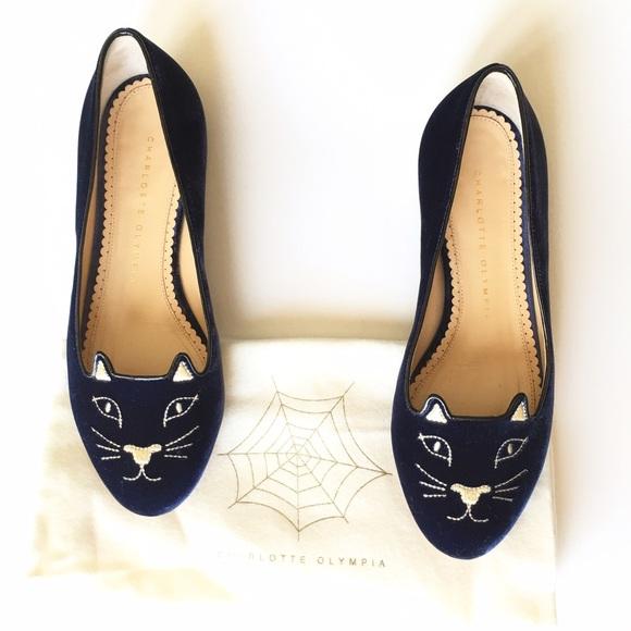 57bdba8d6c25f Charlotte Olympia Shoes - Charlotte Olympia womens kitty flats size 5.5