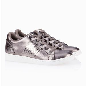 Aldo Metallic Gray Sneakers