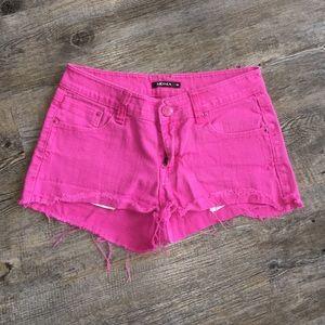 Moma Pants - hot Pink cutoffs