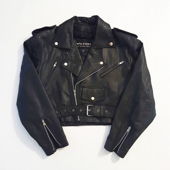 Wilsons leather jacket biker