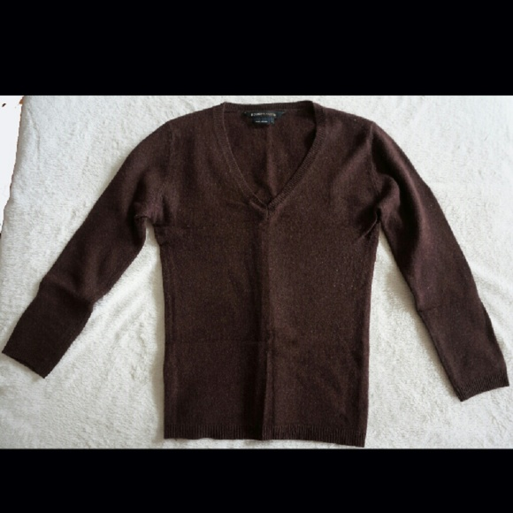94% off BCBGMaxAzria Sweaters - BCBG Chocolate Brown Cashmere ...