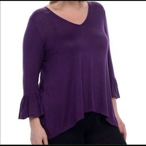 Bellino Clothing Tops - 🚺Bellino Purple Tulip Top SZ 2XL New With Tags 🚺
