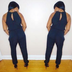 Pants - Sexy Black Jumpsuit