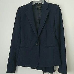 Bird by Juicy Couture Jackets & Blazers - BIRD by Juicy Couture navy peacock tail blazer