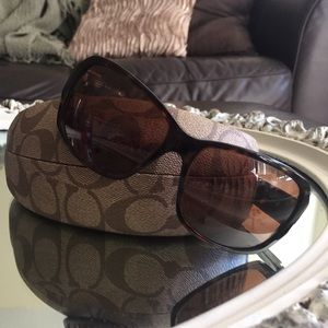 Coach brown tortoise sunglasses