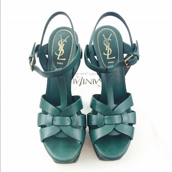 ce2e704b188 ... Laurent green leather tribute shoes. M_57f53a709c6fcf5b7f008430