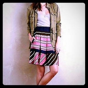 Anthropologie Maeve Ellery Stripe Skirt