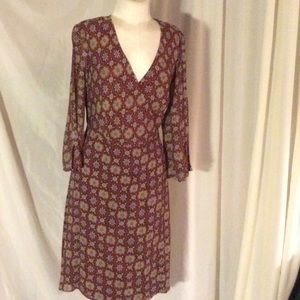 Territory Ahead Dresses & Skirts - 100% silk dress cranberry background cute accent