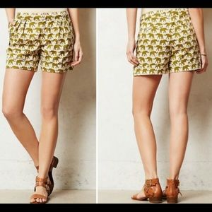 ANTHROPOLOGIE CARTONNIER ELEPHANT PRINT SHORTS