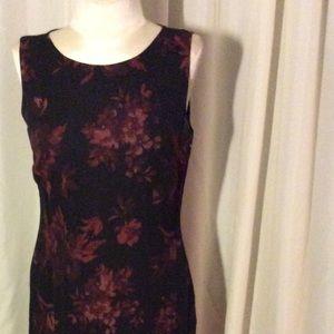 Petite Sophisticate Dresses & Skirts - black maxi cranberry  roses