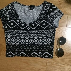 Urban Outfitters Tops - Tribal Aztec print crop top
