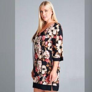 Dresses & Skirts - PLUS--ONLY 2 LEFT!!  Flirty Floral Dress