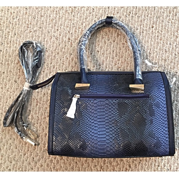 Boutique Bags - Amazing Blue Python Look Vegan Leather Speedy Bag