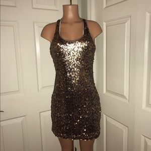 Boston Proper Dresses & Skirts - Andrea Behar by Boston Proper Lvndr and Gold Dress