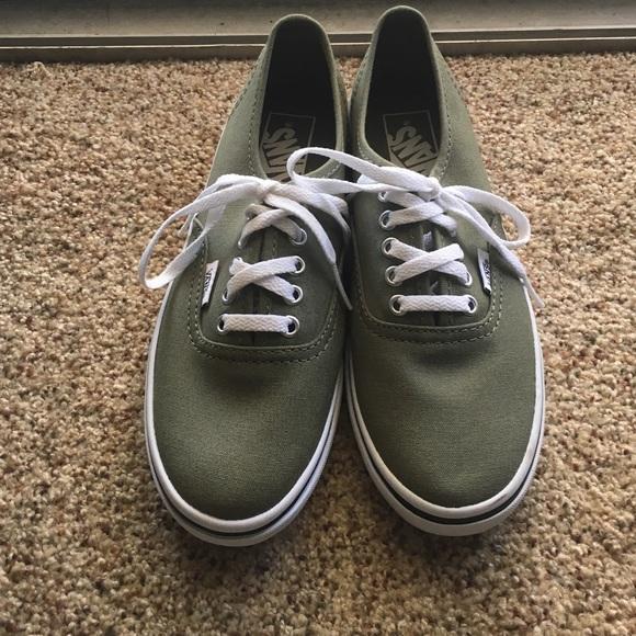 Vans Shoes   Olive Green Vans Size 65