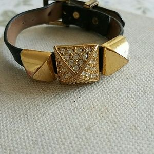 Juicy Couture pave pyramid bracelet