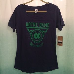 Tops - NWT-size L, Norte Dame, navy blue t-shirt
