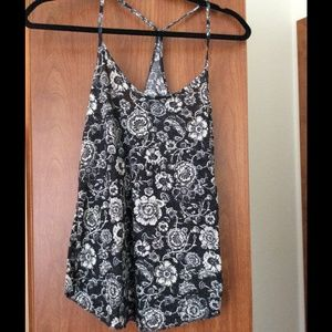 Urban outfitters tank top dark gray floral print