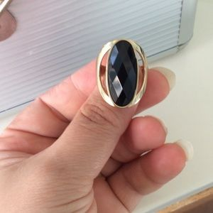 Jewelry - New golden and black ring size 8