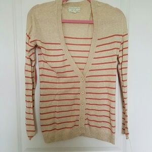 Sweaters - Stripped cardigan with elbow patches